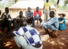 Photo: Discussing problems of education in South Sudan