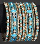 blue bracelets