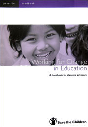 Working for change in education report cover